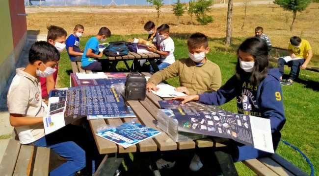 Köy okulunda okuma etkinliği düzenlendi