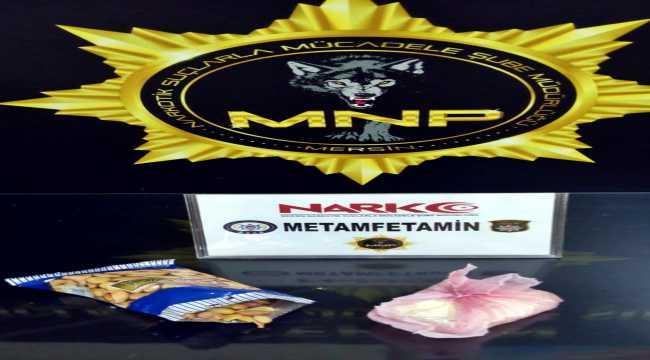 Mersin'de yolcu otobüsünde çerez paketinde uyuşturucu saklayan şüpheli tutuklandı
