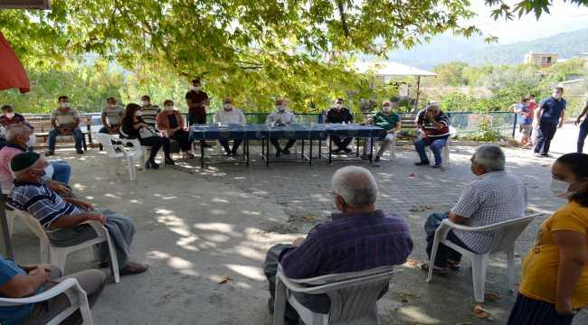 Mezitli Kaymakamı Ahmet Erdoğdu'dan mahalle ziyaretleri