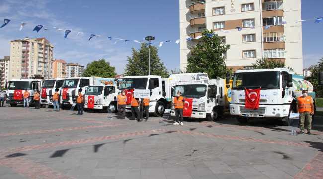 Talas Belediyesi filosuna 24 araç kattı