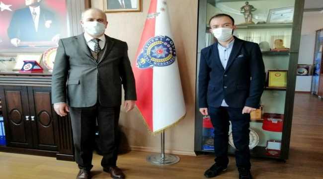 Afrin gazisi Didinmez, Nevşehir Emniyet Müdürü Artunay'ı ziyaret etti