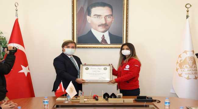 Aksaray UMKE ekibi başarı belgesi ile ödüllendirildi