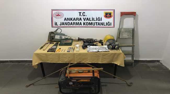 Ankara'da kaçak kazı yapan iki şüpheli yakalandı