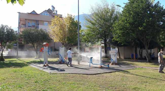 Antalya'da dezenfekte çalışmaları sürüyor
