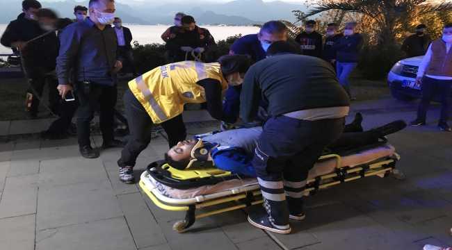 Antalya'da falezlerden düşen kişi yaralandı
