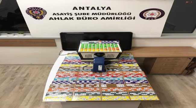 Antalya'da kumar oynayan 43 kişiye para cezası