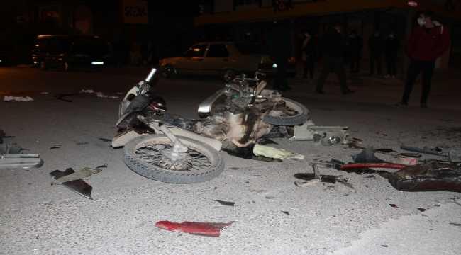Beyşehir'de otomobille motosiklet çarpıştı, 3 kişi ağır yaralandı