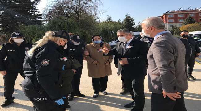 Eskişehir'de tedavi gördüğü hastanede hayatını kaybeden polis memuru için tören düzenlendi