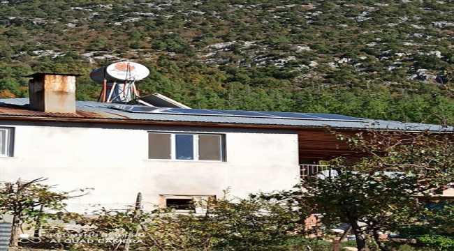 Feke'de orman köylerine güneş enerji sistemiyle katkı