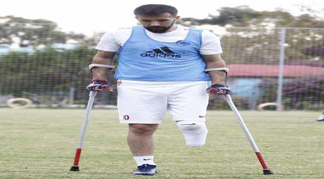 Gazi Savaş Kaya'nın mücadelesi ampute futbolla devam ediyor
