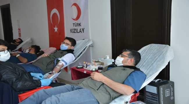 Gülnar Orman İşletme Müdürülüğü personellerinden kan bağışı