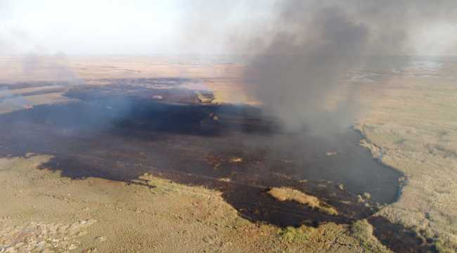 Mersin'deki Göksu Deltası'nda çıkan yangın kontrol altına alındı