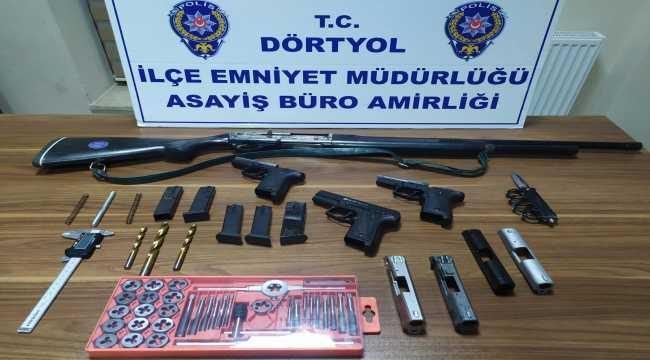 Hatay'da evini silah atölyesine dönüştüren kişi yakalandı