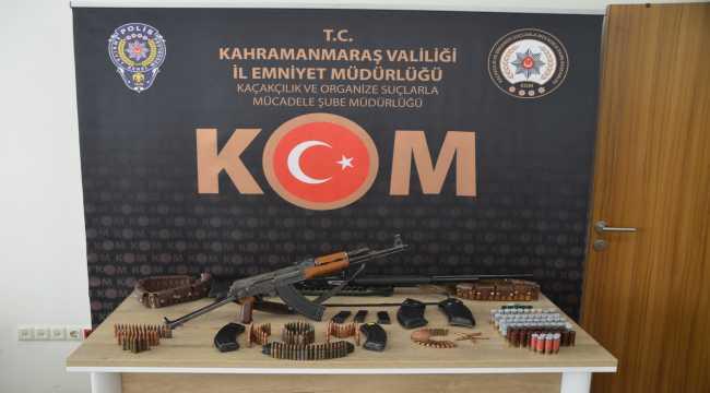 Kahramanmaraş'ta uzun namlulu silah ve mühimmat ele geçirildi