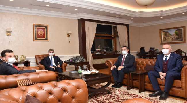 Kaymakam Aksoy ile Belediye Başkanı Acar'dan İçişleri Bakan Yardımcısı İnce'ye ziyaret