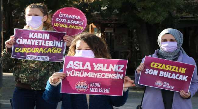 Kayseri'de kadın cinayetleri protesto edildi