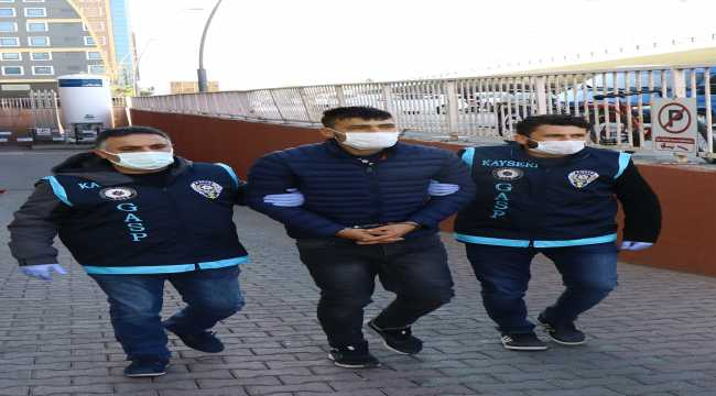 Kayseri'de kasiyeri bıçakla yaralayıp kaçan şüpheli tutuklandı