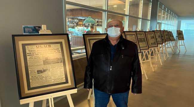 Kırşehir'de Atatürk'ün ölümü ve sonrasındaki haberlerin yer aldığı gazeteler sergilendi