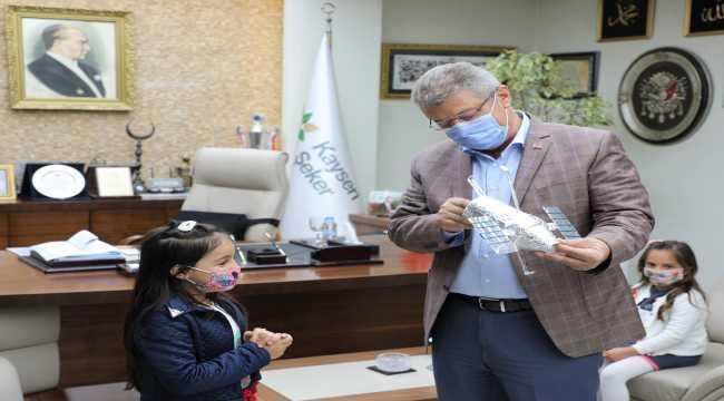 NASA'dan ödül alan çocuklar Kayseri Şeker'i ziyaret etti