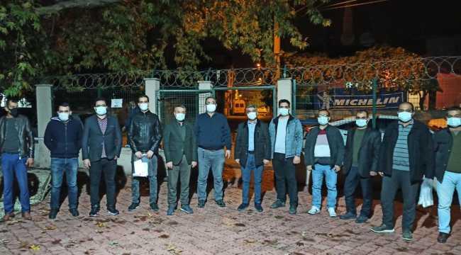 Osmaniye'de sendika üyeleri filyasyon ekibine destek verdi