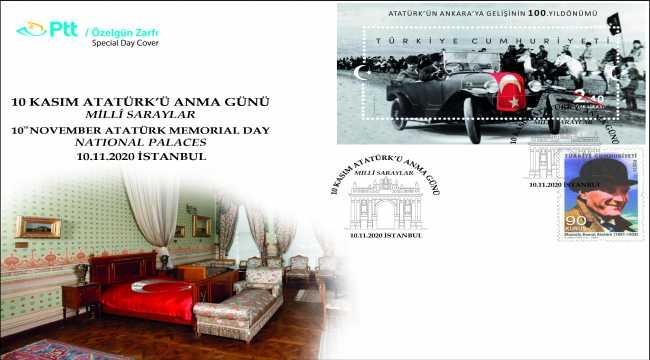 PTT'den 10 Kasım Atatürk'ü Anma Günü için özel gün zarfı