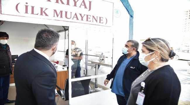 Pursaklar Belediyesinden Kovid-19'a triaj çadırı önlemi