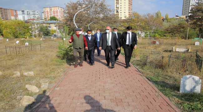Sivas'ta Aydoğan Mezarlığı'nı yenileme çalışmaları tamamlandı