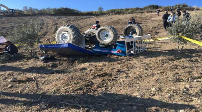 Adana'da devrilen traktörün sürücüsü öldü
