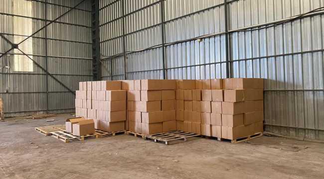 Adana'da kaçak 10 milyon 750 bin makaron ele geçirildi