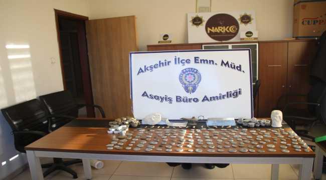 Akşehir'de tarihi eser kaçakçılığı operasyonu