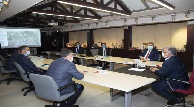 Başkan Büyükkılıç ve Palancıoğlu 2021 yılında yapılacak hizmetleri değerlendirdi