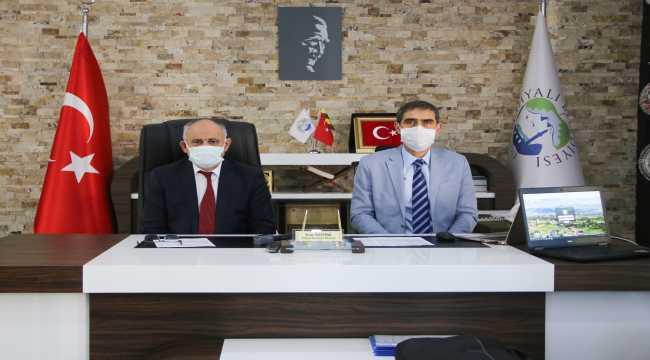 Başkan Öztürk ve KASKİ Genel Müdürü Özdemir değerlendirme toplantısı yaptı