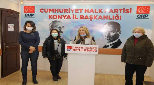 CHP Konya Kadın Kolları Başkanı Şerife Tunç, kadın cinayetlerine tepki gösterdi