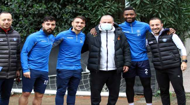 Fatih Terim, Adana Demirspor'un teknik heyet ve futbolcularıyla bir araya geldi