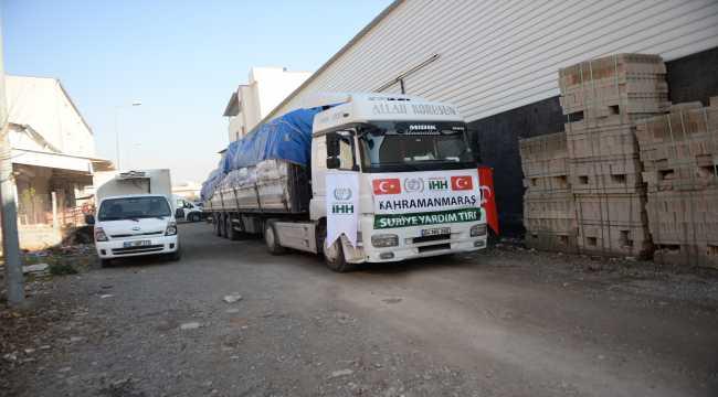 Suriye'ye 6 tır insani yardım malzemesi gönderildi