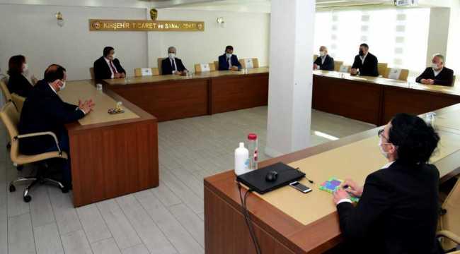 Kırşehir Valisi Akın'dan TSO'ya ziyaret