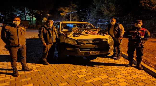 Mersin'de yaban keçisi avlayan 4 kişiye 40 bin lira ceza