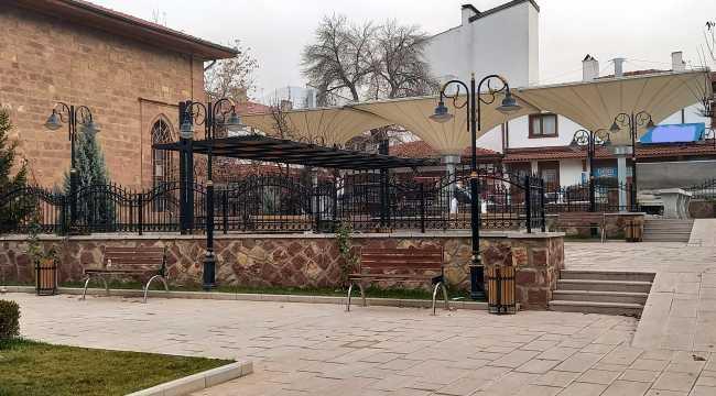 Nallıhan'daki Nasuh Paşa Camisi'nde çevre düzenlemesi yapıldı