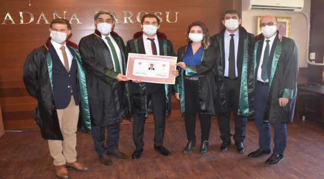 Stajını tamamlayan 7 yeni avukat mesleğe başladı