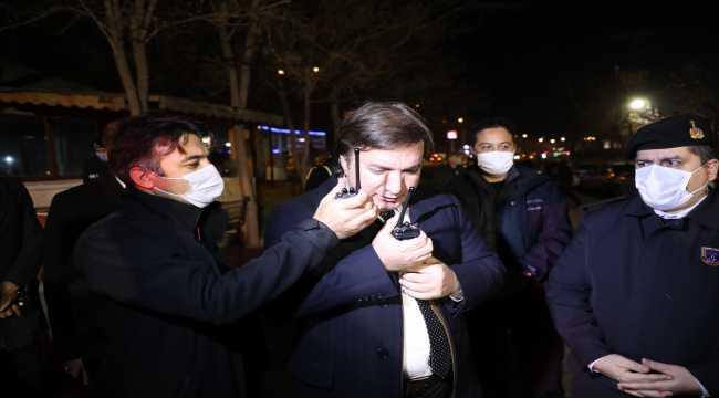 Aksaray Valisi Aydoğdu yeni yıla güvenlik güçleri ile girdi