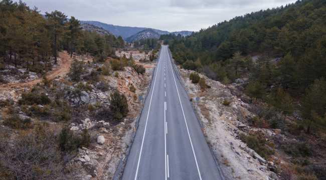 Antalya-Konya kara yolundaki sakinlik drone ile görüntülendi