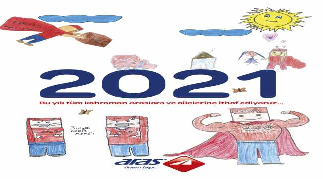 Aras Kargo, 2021 takviminde çalışanlarının çocuklarının çizdikleri resimlere yer verdi