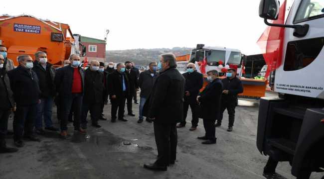 Başkan Palancıoğlu, 2020'de alınan iş makinelerini meclis üyelerine tanıttı