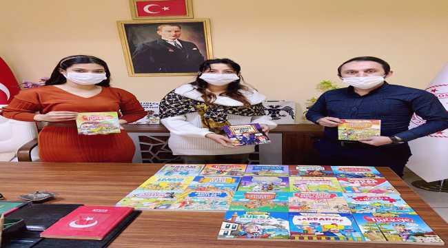 Eğitimci-yazar Metin Özdamar, Serikli çocuklara kitap hediye etti