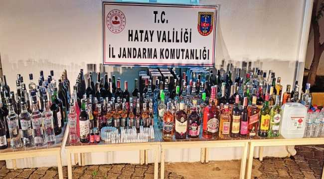 Hatay'da kaçak içki operasyonu: 2 gözaltı