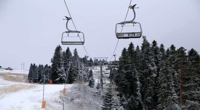 Ilgaz Dağı'nda kar etkili oluyor