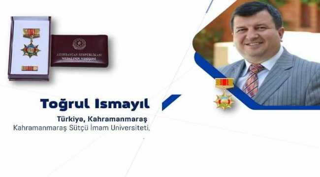 Kahramanmaraş Sütçü İmam Üniversitesi öğretim üyesine Azerbaycan Devlet Madalyası verildi