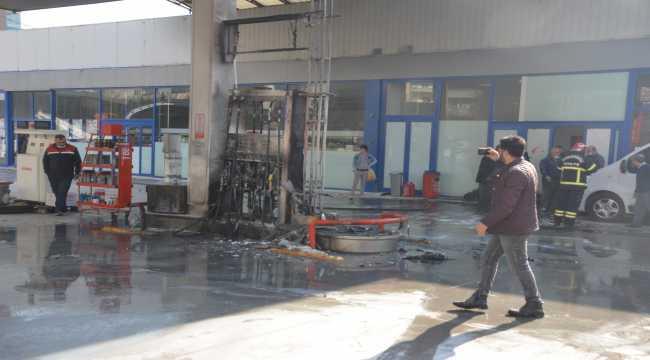 Kahramanmaraş'ta akaryakıt istasyonunda çıkan yangında 2 kişi yaralandı