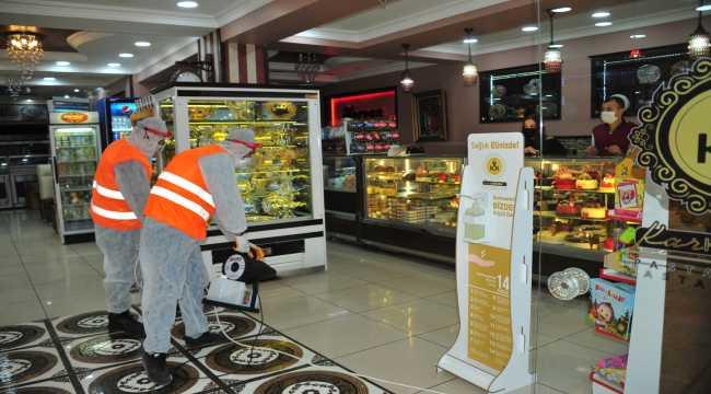 Karaman Belediyesi'nin koronavirüsle mücadele çalışmaları
