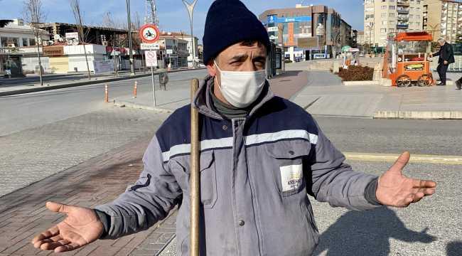 Kırşehir'de temizlik görevlileri ile fırıncılar yılın ilk gününde de mesaide